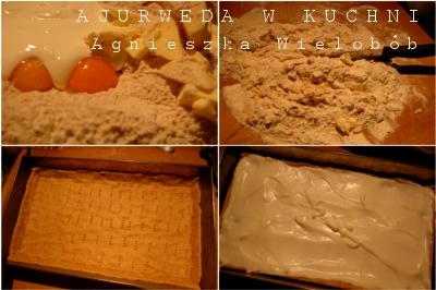 Razowe ciasto z dżemem i pianą - przygotowanie